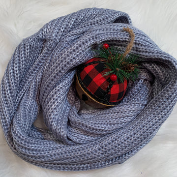 Periwinkle knit infinity scarf