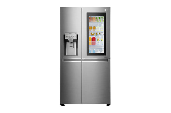 LG 668L - Side by Side Fridge Platinum Silver 3 - Instaview