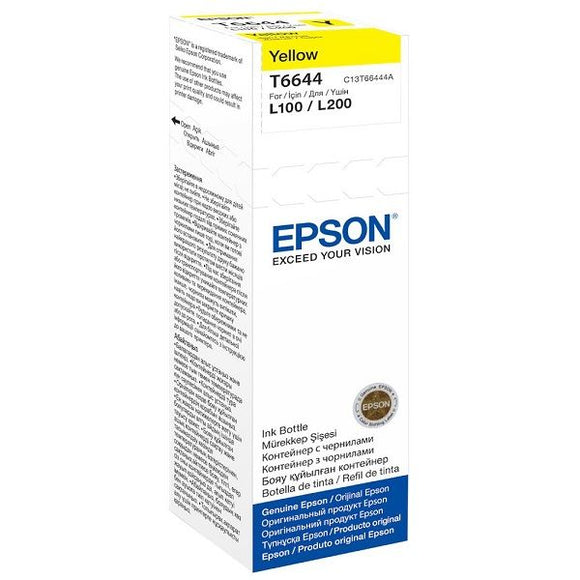 Epson T6644 Yellow 70ml Ink Bottle (C13T66444A)