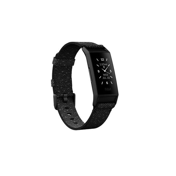 Fitbit Charge 4 Activity Tracker Granite Reflective Woven/Black