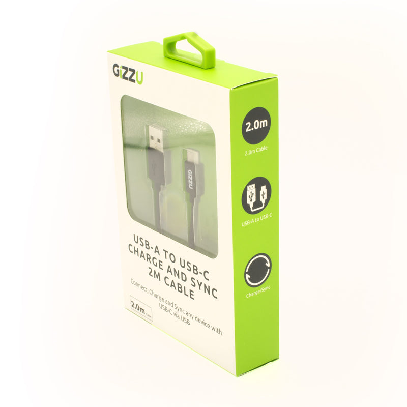 Gizzu USB2.0 A to USB-C 2m Cable