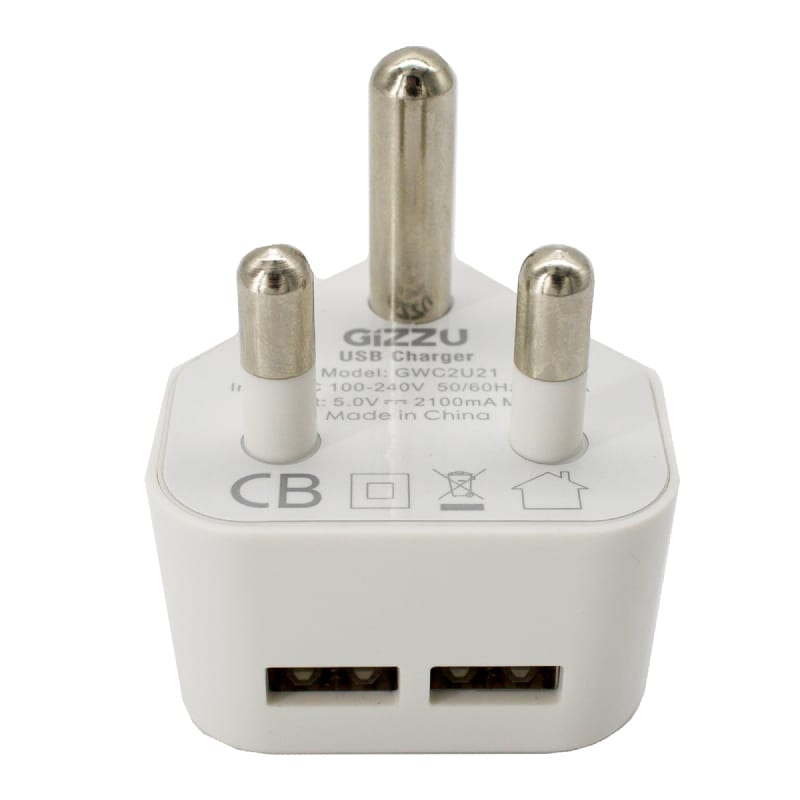 Gizzu Dual USB Wall Charger