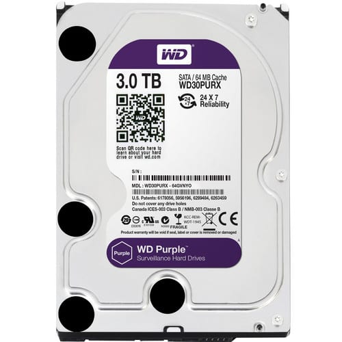 WD Purple 3TB 3.5 SATA 64MB