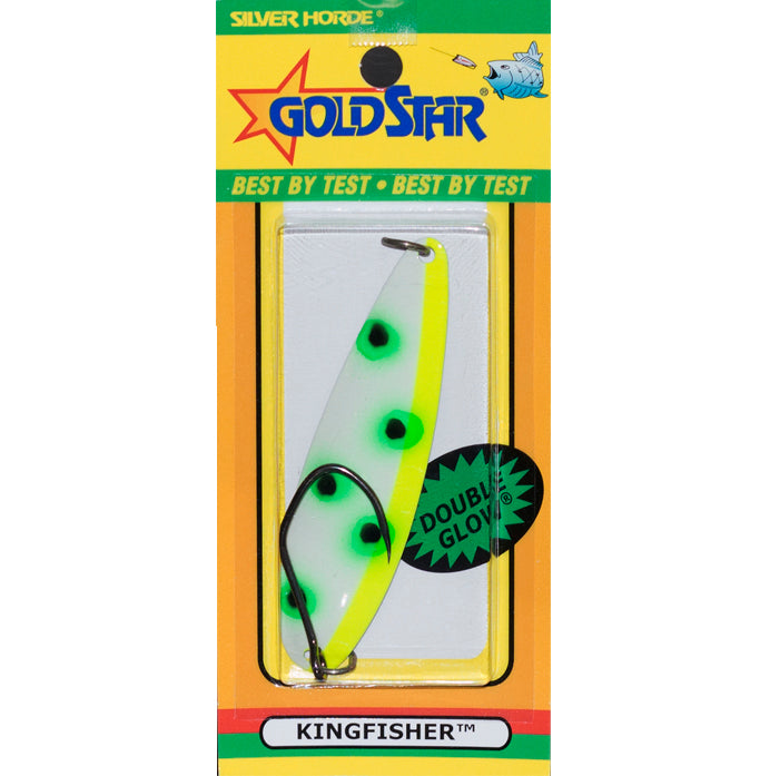 "Gold Star Kingfisher 4 ""Lite"" Spoon 829 - Glow/Albino Frog"