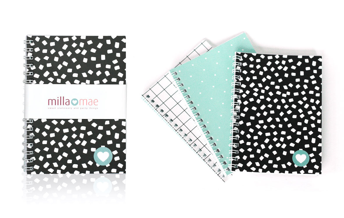 NB0002 A6 3pk Spiral Notebooks