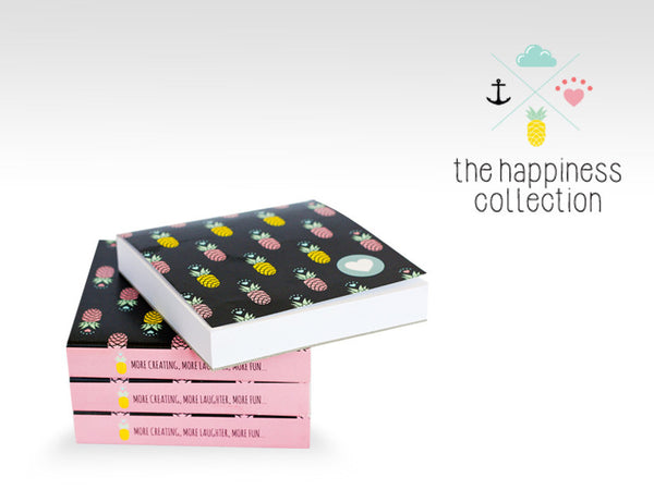 NP0001 happy pineapples notepad