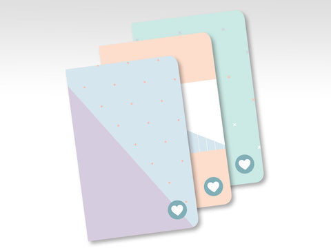 ES0001 3pk Essential Sorbet Notebooks