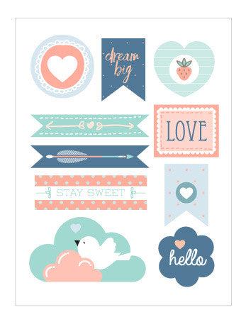 S0002 Sweet Stickers (2 x sheets per pack)