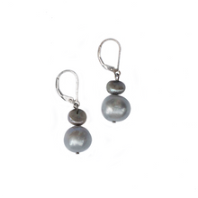 Load image into Gallery viewer, Audrey Drop Earrings in Pewter