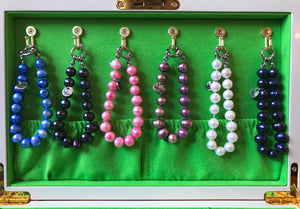Hazel & Marie: Cultured Pearl bracelet large in multiple colored pearls