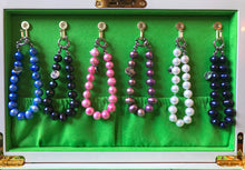 Load image into Gallery viewer, Hazel & Marie: Cultured Pearl bracelet large lavender, purple pearls hanging