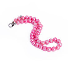 Load image into Gallery viewer, Hazel & Marie: Cultured Pearl Betty Large Size Pearl Necklace in Pink twist