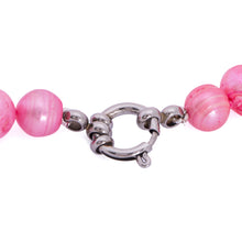 Load image into Gallery viewer, Hazel & Marie: Cultured Pearl Betty Large Size Pearl Necklace in Pink with clasp