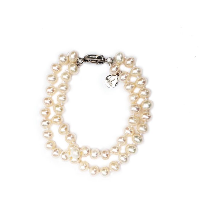 Hazel & Marie: Cultured pearl bracelet with two strands