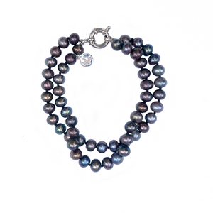 Fifth Avenue Pearl Bracelet in Noir