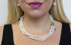 Hazel & Marie: Cultured Pearl necklace in natural color