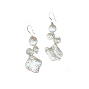 Icicle Pearl Drop Earrings