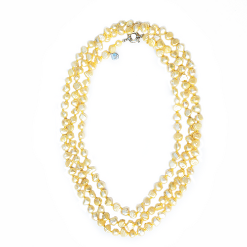 Pebble 1-2-3-4 Necklace in Lemonade