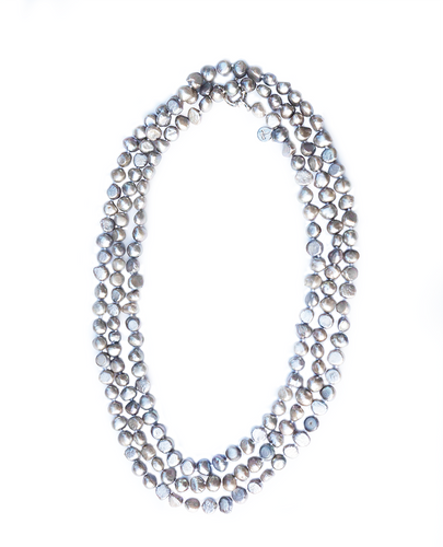 Pebble 1-2-3-4 Necklace in Pewter
