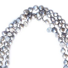 Load image into Gallery viewer, Pebble 1-2-3-4 Necklace in Pewter