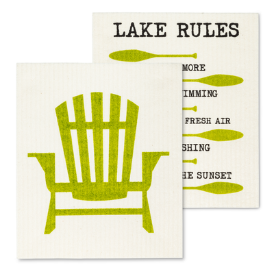Amazing Swedish Dishcloth with the Chair & Rules Design
