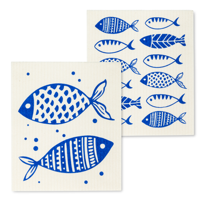 Amazing Swedish Dishcloth with the Fish Design