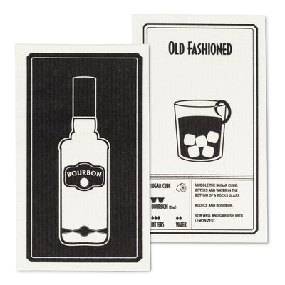 Amazing Swedish Dishcloth with the Bourbon & Old Fashioned Design
