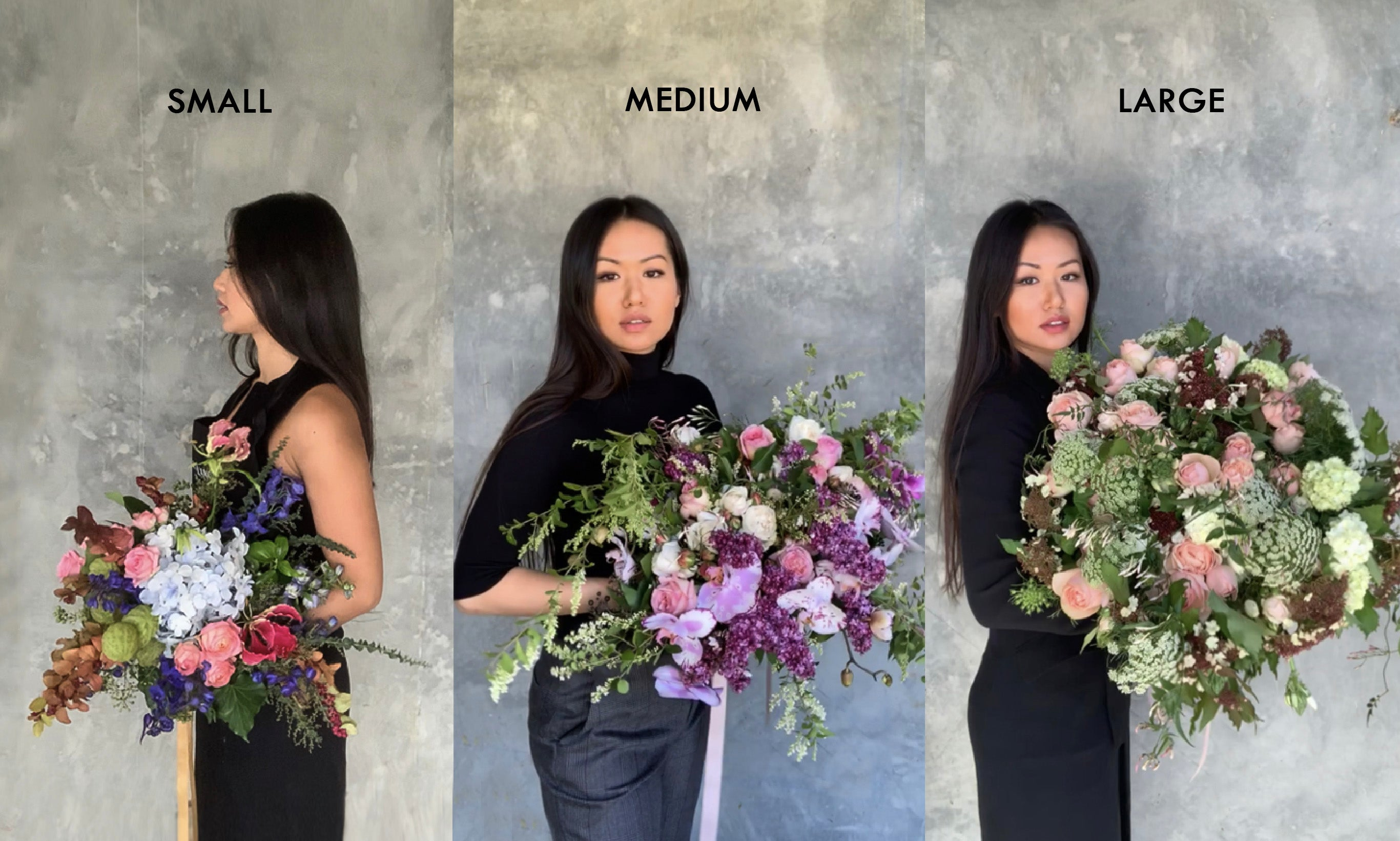 sizing chart bouquet