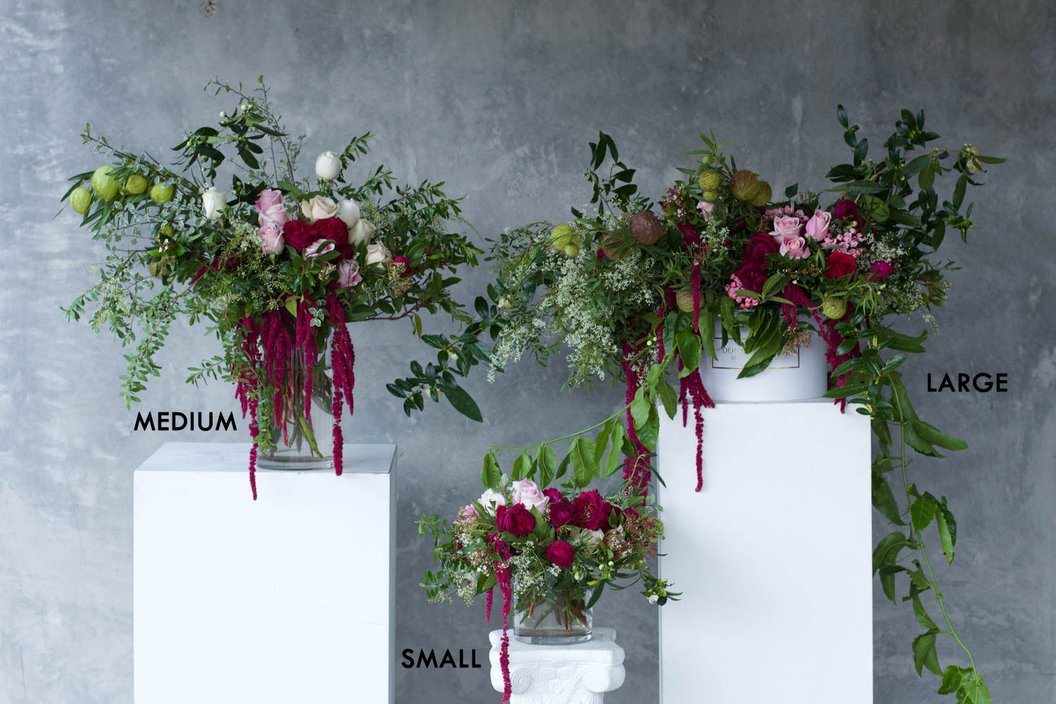 don de lamour sizing guide vases