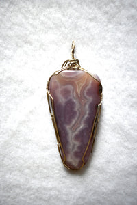 Laguna Agate Pendant Wrapped in Sterling Silver