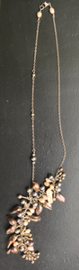 A Dangle of Seed Pearls on a thin Silver Chain