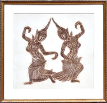 Load image into Gallery viewer, Dancing Figures - Henna Stencil Drawings (Set of 2)