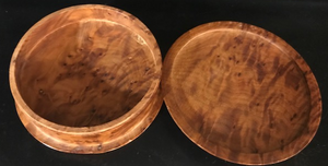 Burl Wood Box - Round
