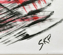 Load image into Gallery viewer, Abstract Red & Black Acrylic on Canvas - SKP