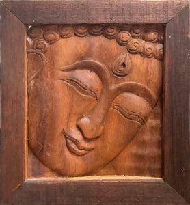 """Buddha"" wooden carving"