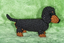 Load image into Gallery viewer, Crocheted Dachshund - Adopt a Critter!