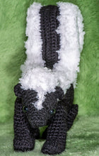 Load image into Gallery viewer, Crocheted Skunk - Adopt a Critter!