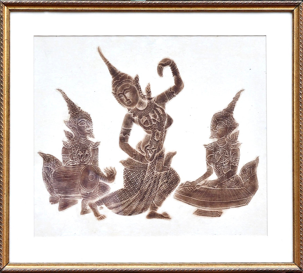 Dancing Figures - Henna Stencil Drawings (Set of 2)