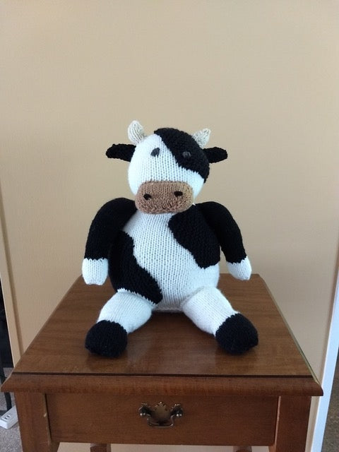 Knitted & Stuffed - Moo Cow
