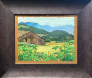 """Barn & Mountains"" - Kim McBride"