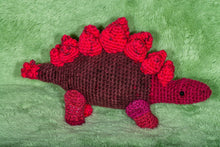 Load image into Gallery viewer, Crocheted Stegosaurus - Adopt a Critter!