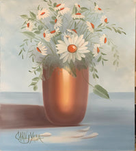Load image into Gallery viewer, Copper Vase filled with Daisies - Carol Yada