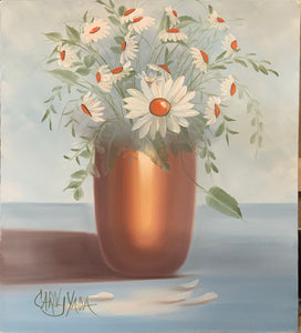 Copper Vase filled with Daisies - Carol Yada