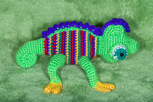 Load image into Gallery viewer, Crocheted Chameleon - Adopt a Critter!