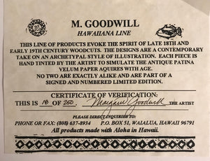 """Pineapple"" Hawaiiana Line - M. Goodwill"