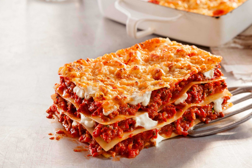 Beef Lasagna with Traditional Noodles