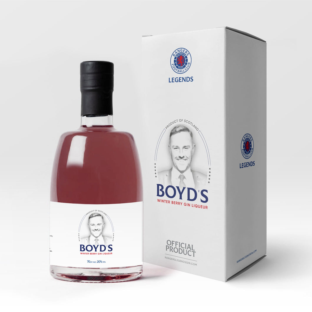 KRIS BOYD WINTER BERRY GIN LIQUEUR (SIGNED)