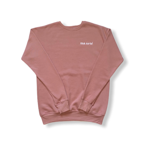 Ma Arté Mauve Adult Crewneck Sweater