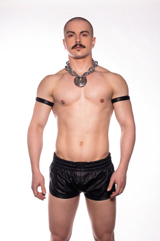 Leather Sports Shorts (4401328455818)