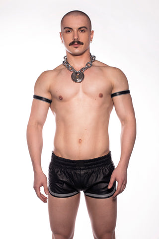 Leather Sports Shorts (4823887347850)